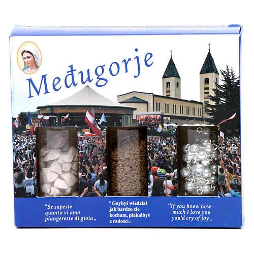 Kit terra sassi e rosario Medjugorje 2