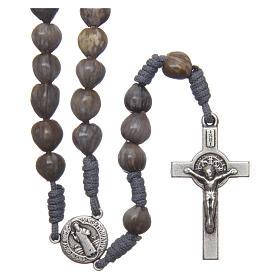 Bracelets, dizainiers: Chapelet Medjugorje Larmes de Job corde grise