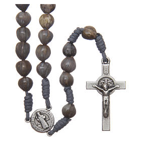 Bracelets, peace chaplets, one-decade rosaries: Medjugorje rosary tears of Job in grey rope