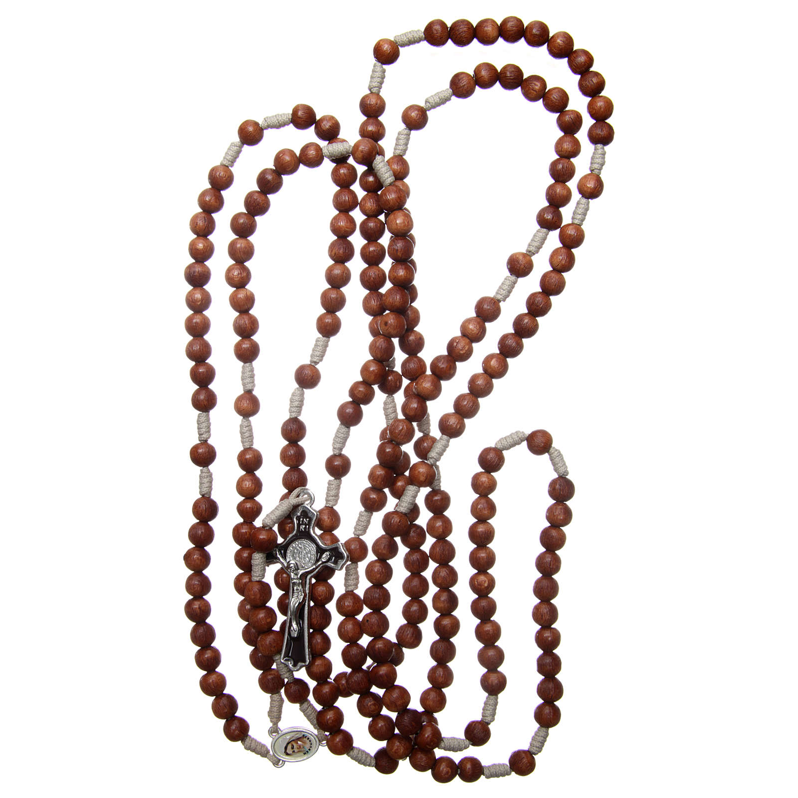 Medjugorje rosary with the four mysteries brown 4