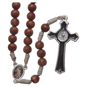 Medjugorje rosary with the four mysteries brown s2