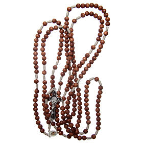 Medjugorje rosary with the four mysteries brown s4