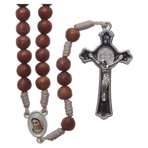 Medjugorje rosary with the four mysteries brown 1