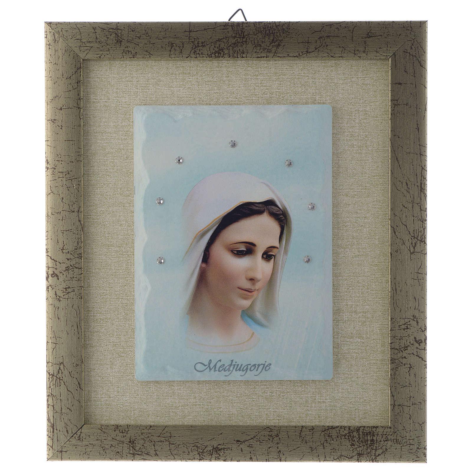 Quadro Madonna di Medjugorje azzurro 4
