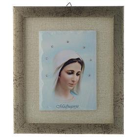 Quadro Madonna di Medjugorje azzurro s1