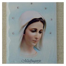 Quadro Madonna di Medjugorje azzurro s2
