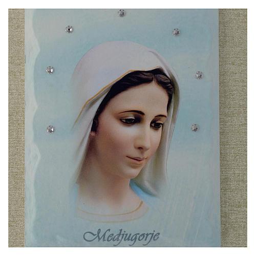 Quadro Madonna di Medjugorje azzurro 2