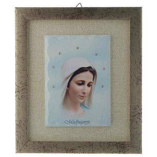 Quadro Nossa Senhora de Medjugorje azul 1