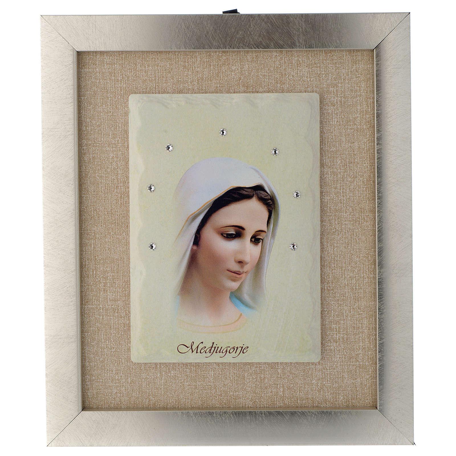 Quadro Madonna di Medjugorje avorio 4