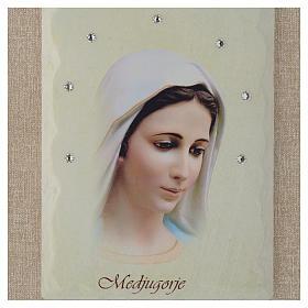 Quadro Madonna di Medjugorje avorio s2