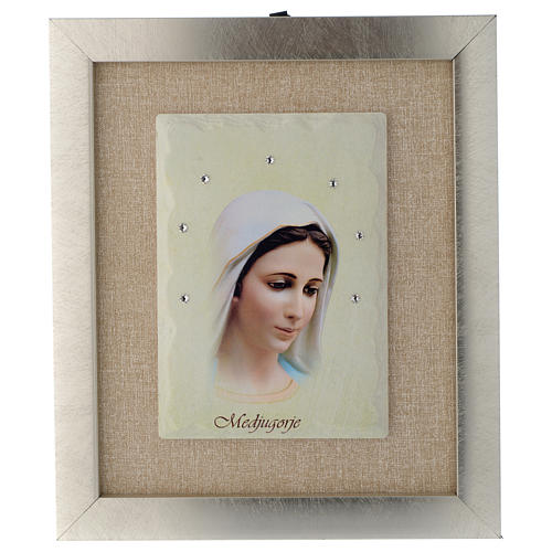 Quadro Madonna di Medjugorje avorio 1