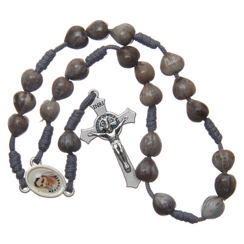 Medjugorje rosary beads Tears of Job grey rope 3