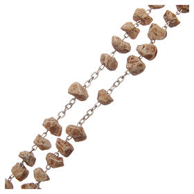 Medjugorje rosary with stone grains and chain s3