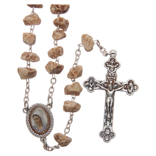 Medjugorje rosary with stone grains and chain 1