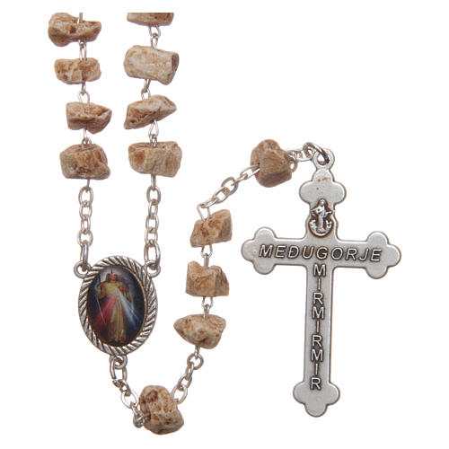 Medjugorje rosary with stone grains and chain 2