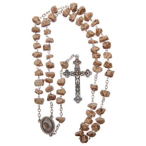 Medjugorje rosary with stone grains and chain 4
