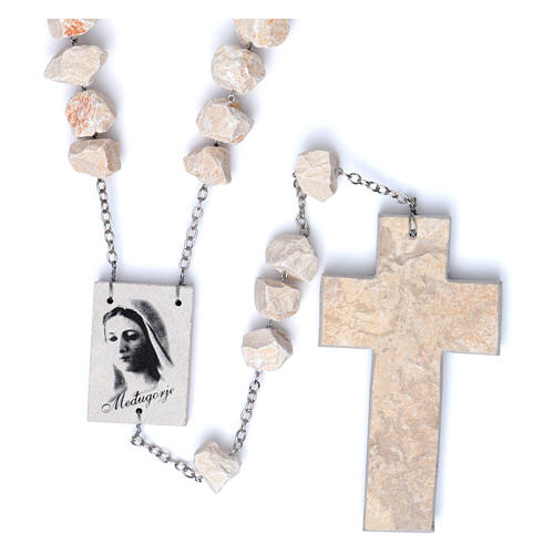 Medjugorje wall rosary with stone and chain 1