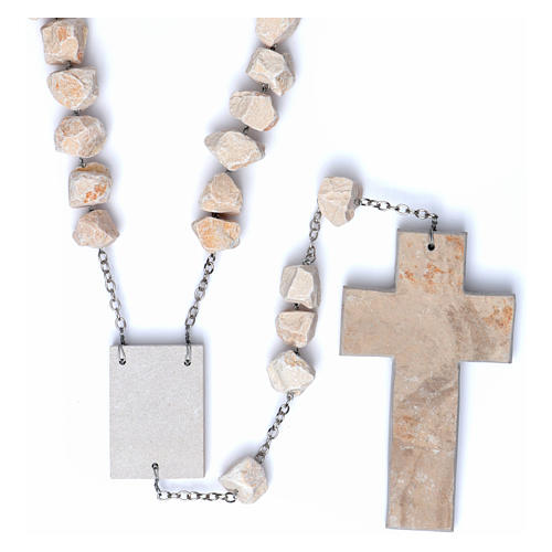 Medjugorje wall rosary with stone and chain 2