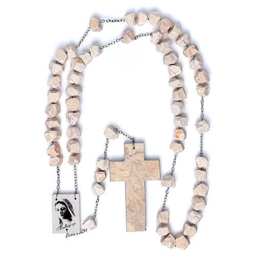 Medjugorje wall rosary with stone and chain 4