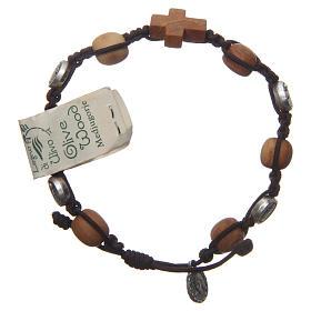Bracelets, dizainiers: Bracelet Medjugorje olivier corde marron Medjugorje Jésus