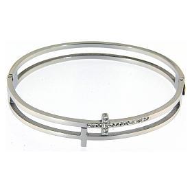 Bracelets, dizainiers: Bracelet Medjugorje croix avec strass