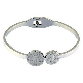 Bracelets, dizainiers: Bracelet Medjugorje médailles St Benoît et croix ressort