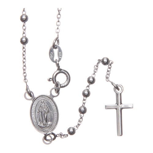 Our Lady of Medjugorje rosary in 925 sterling silver 1