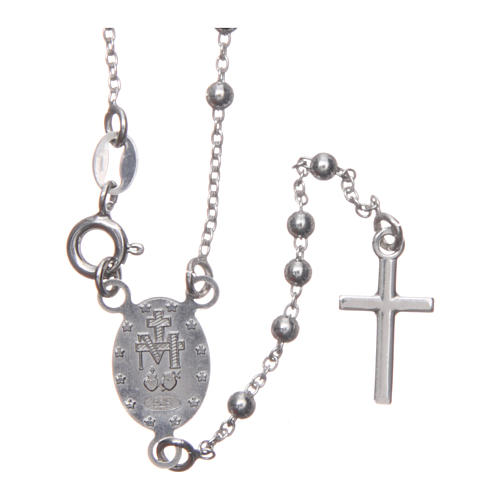Our Lady of Medjugorje rosary in 925 sterling silver 2