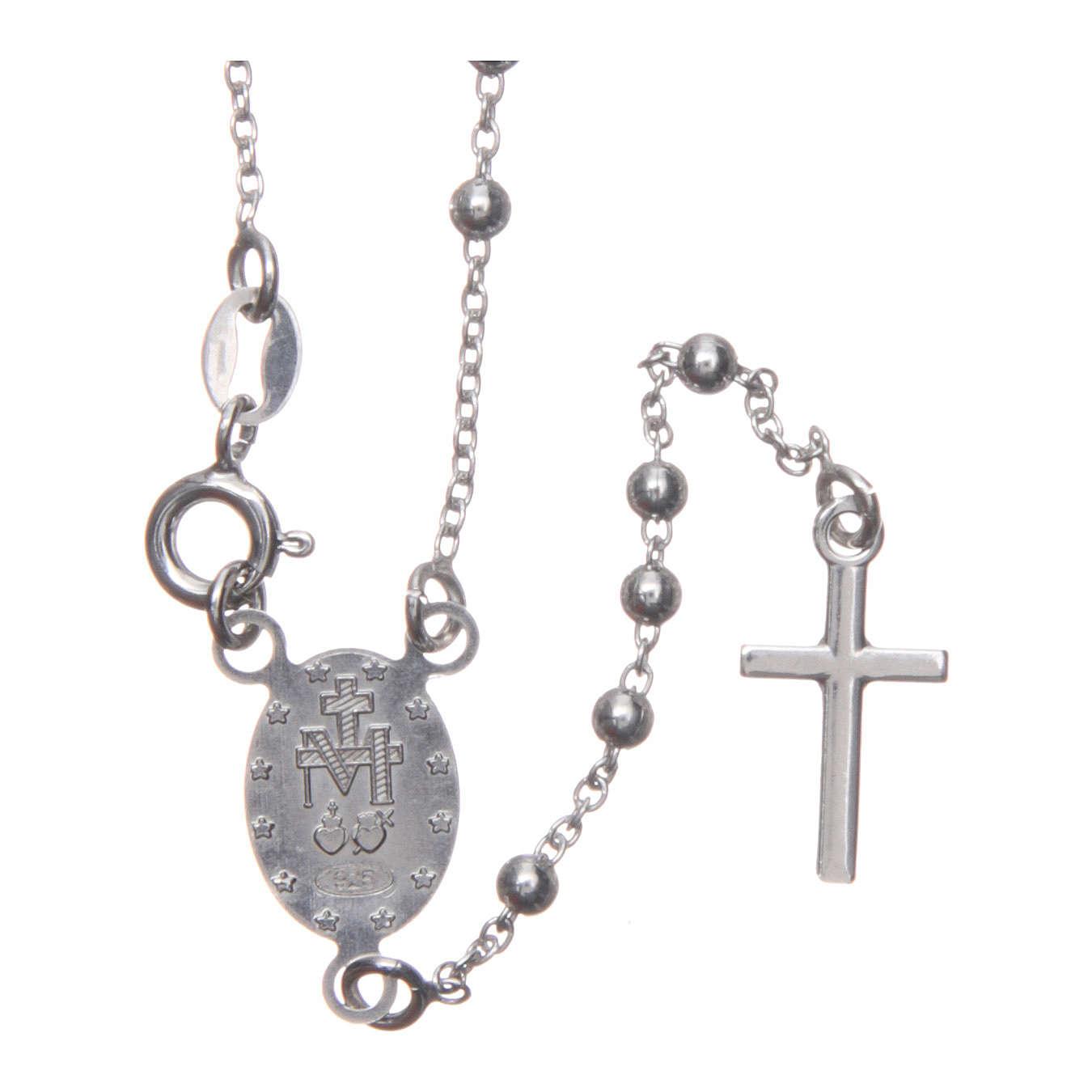 Rosario Madonna di Medjugorje argento 925 4