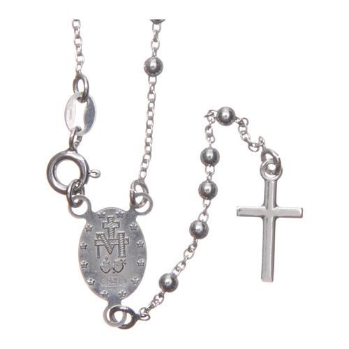 Rosario Madonna di Medjugorje argento 925 2