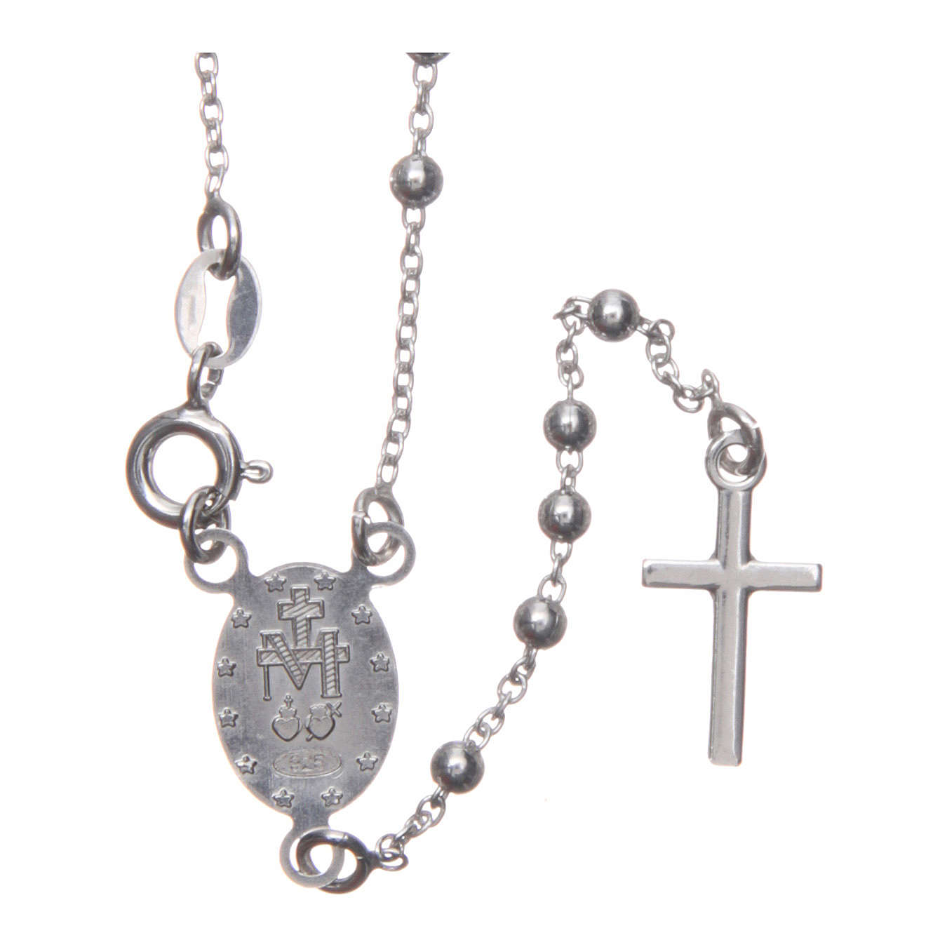 Our Lady of Medjugorje rosary in 925 sterling silver 4