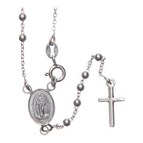 Our Lady of Medjugorje rosary in 925 sterling silver s1