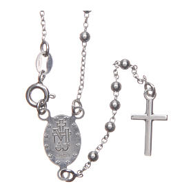 Our Lady of Medjugorje rosary in 925 sterling silver s2