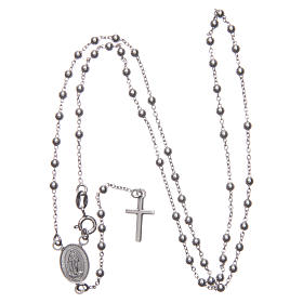 Our Lady of Medjugorje rosary in 925 sterling silver s3