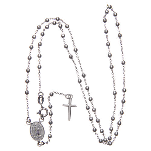 Our Lady of Medjugorje rosary in 925 sterling silver 3