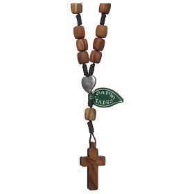 Medjugorje rosary beads with olive wood grains s2