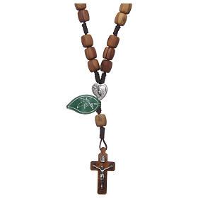 Bransoletki, Koronki Pokoju, dziesiątki różańca: Koronka Medjugorje koraliki drewno oliwne