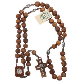 Medjugorje rosary Saint Benedict with olive wood grains 9 mm and cross s4