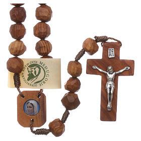 Chapelets et boîte chapelets: Chapelet Medjugorje grains olivier 9 mm médaille Vierge
