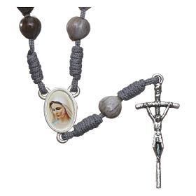 Chapelet de Medjugorje avec Larmes de Job corde grise s1