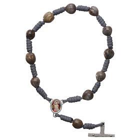 Dezena Medjugorje Lágrimas de Jó corda cinzenta cruz 4x2 cm s2