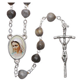 Medjugorje Rosary with Job's Tears and chain s1