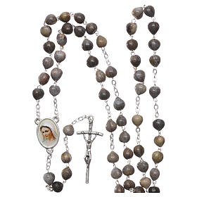 Medjugorje Rosary with Job's Tears and chain s4