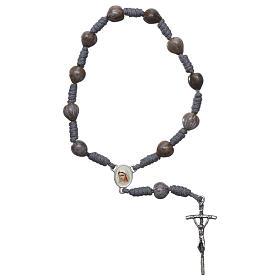 Bracelets, dizainiers: Dizainier Medjugorje Larmes de Job corde grise