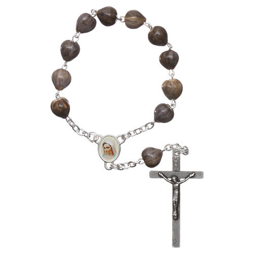 Medjugorje decade Job's Tears, chain with cross 4x2 cm 1