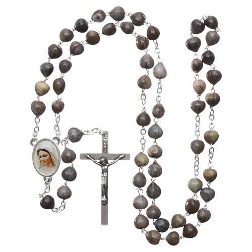 Medjugorje rosary Job's Tears, chain and cross 4