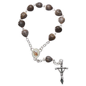 Medjugorje decade Job's Tears, chain with cross 3.5x1.5 cm s1