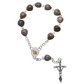 Bracelets, dizainiers: Dizainier Medjugorje Larmes de Job chaîne croix 3,5x1,5 cm