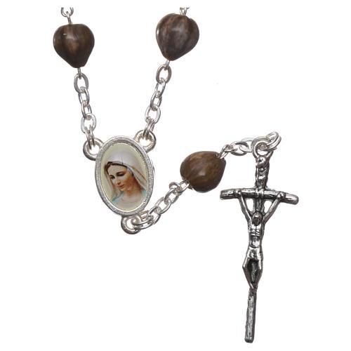 Coronilla Medjugorje Lágrimas de Jobe cadena cruz 3,5x1 cm 1