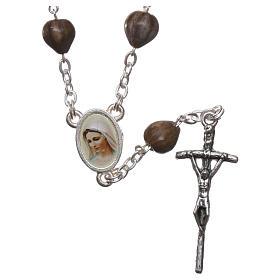 Bracelets, dizainiers: Chapelet Medjugorje Larmes de Job chaîne croix 3,5x1 cm